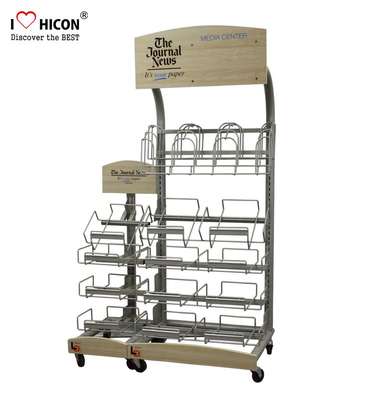 Newspaper display rack