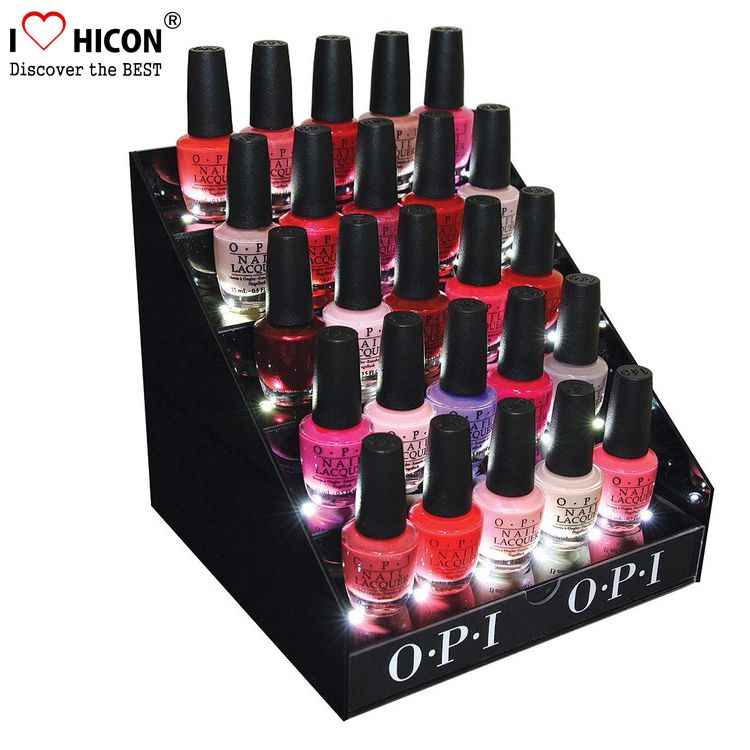 Nail Polish Make up Stands and Displays with Backlight