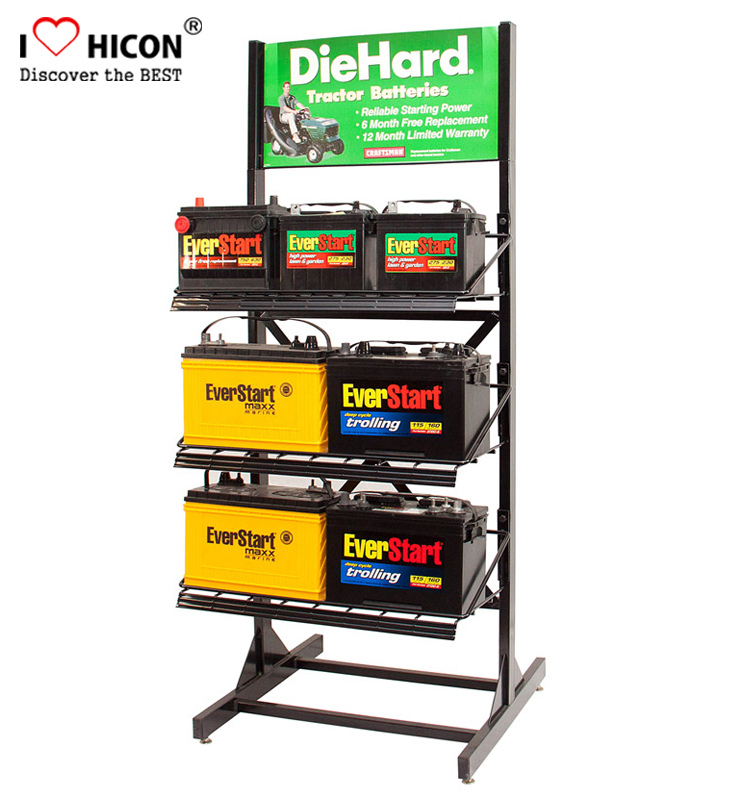 Car battery display stand