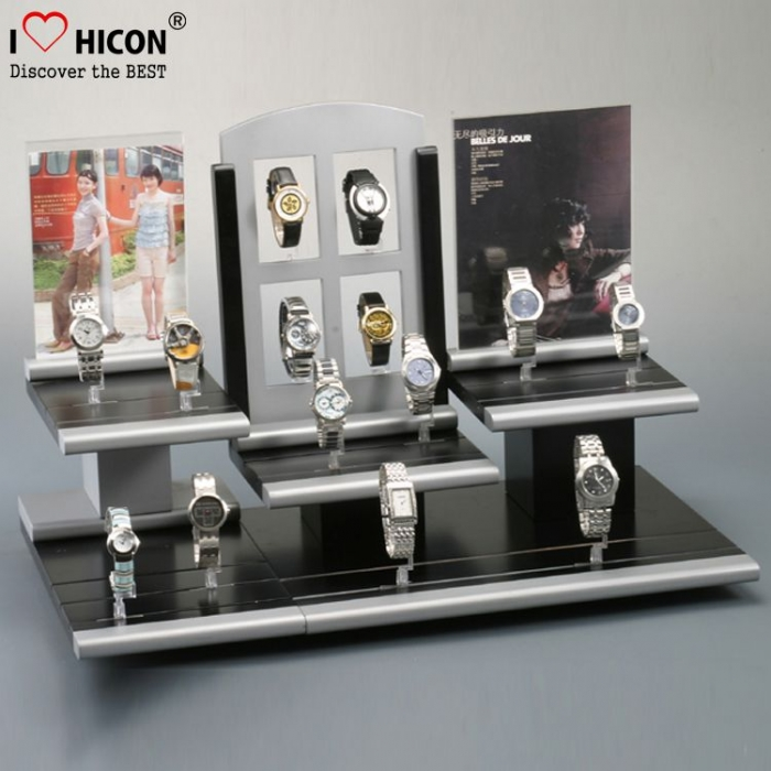 Inspire Customers Countertop Small Wooden Men's Watch Display Stand
