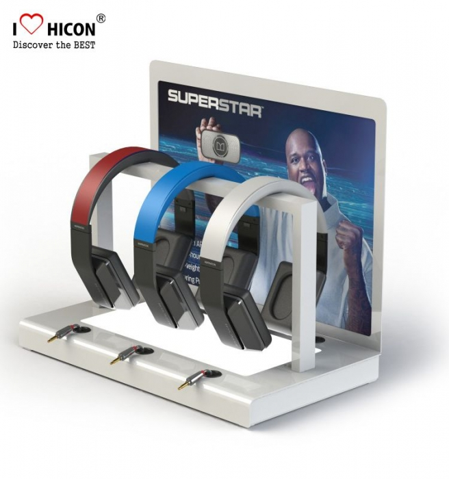 Get More Attention Led Lighting Acrylic 3-Set Headphone Display Stand