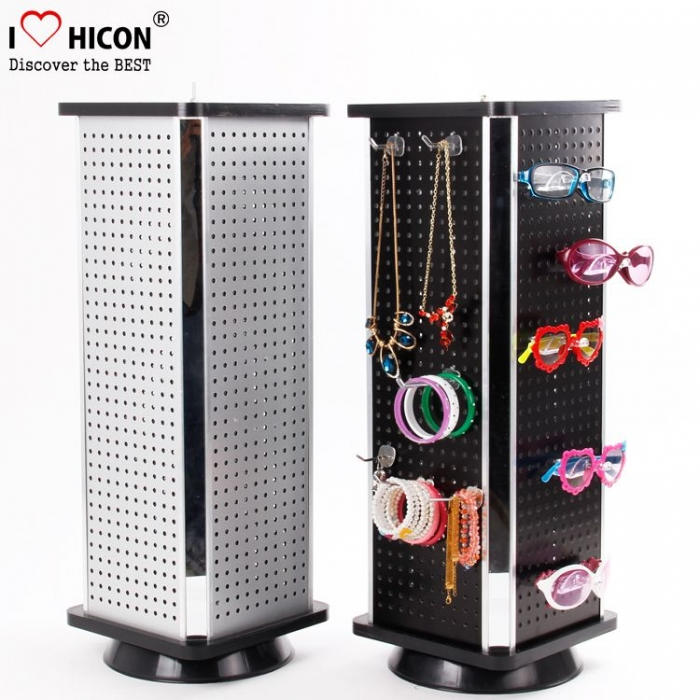 Creative Floor Rotating Jewelry Display Stand With Cabinet