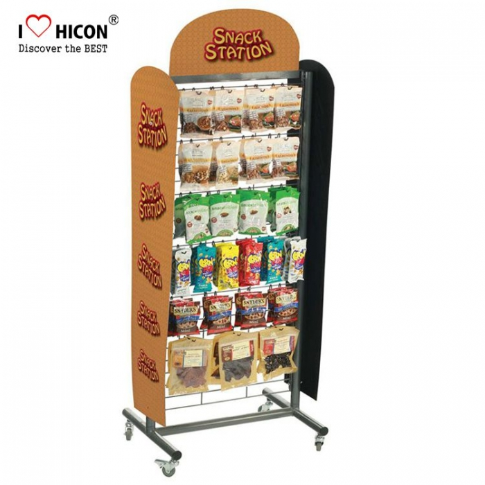Tasty Food Store Metal Movable Chocolate Bar Candy Display Racks For Sale