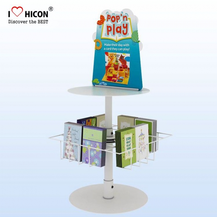 Visual Merchandising Countertop Postkarte Geschenkkarte Display Stand Metall
