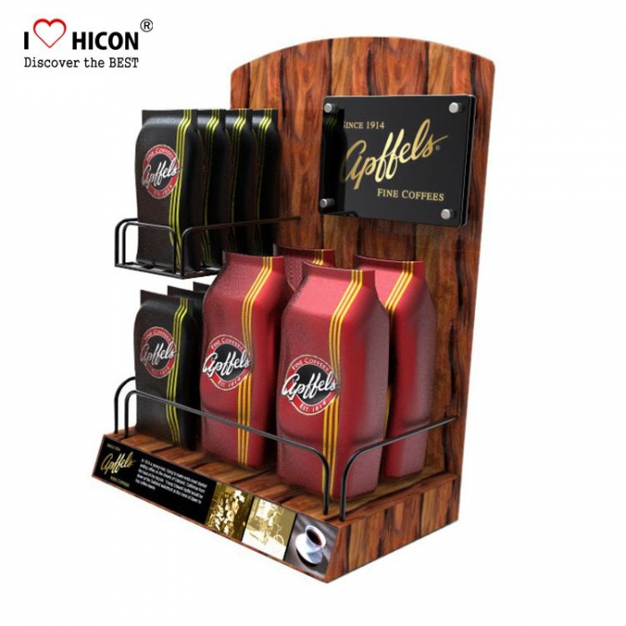 Attractive Commercial Countertop Metal Wood Food Display Stands