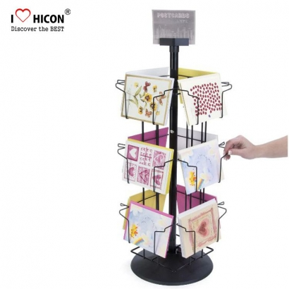 Free design counter rotating acrylic gift card christmas card fresh appreance tabletop card rack countertop greeting card display stands m4hsunfo