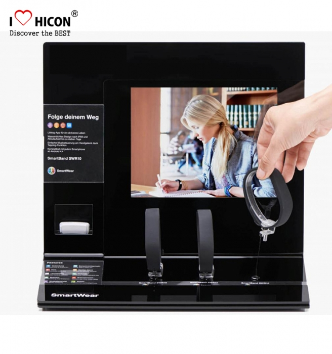 Fashion Retail Store Table Top Wrist Watch Display Stand With screen