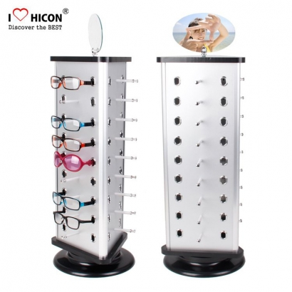 6cd7b9618e Fashion Customized Metal Sunglass Spinner Display Rack With Mirror