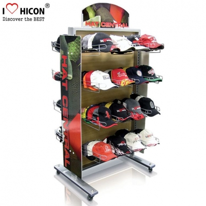 Baseball Hat Floor Display Rack