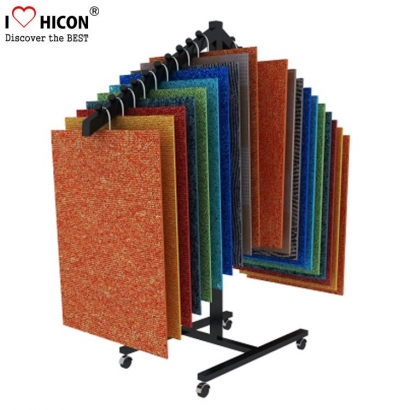Carpet Sample Display Boards steht