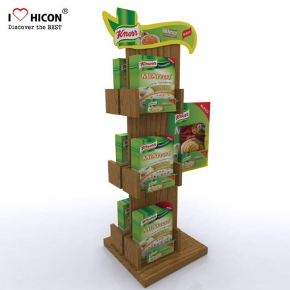 Wood Restaurant Food Display Stativ