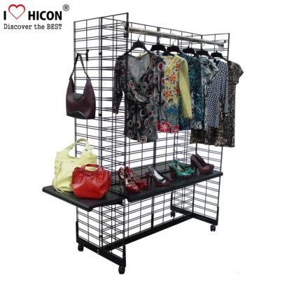 Mobile Hanging Vaatteet Display Rack