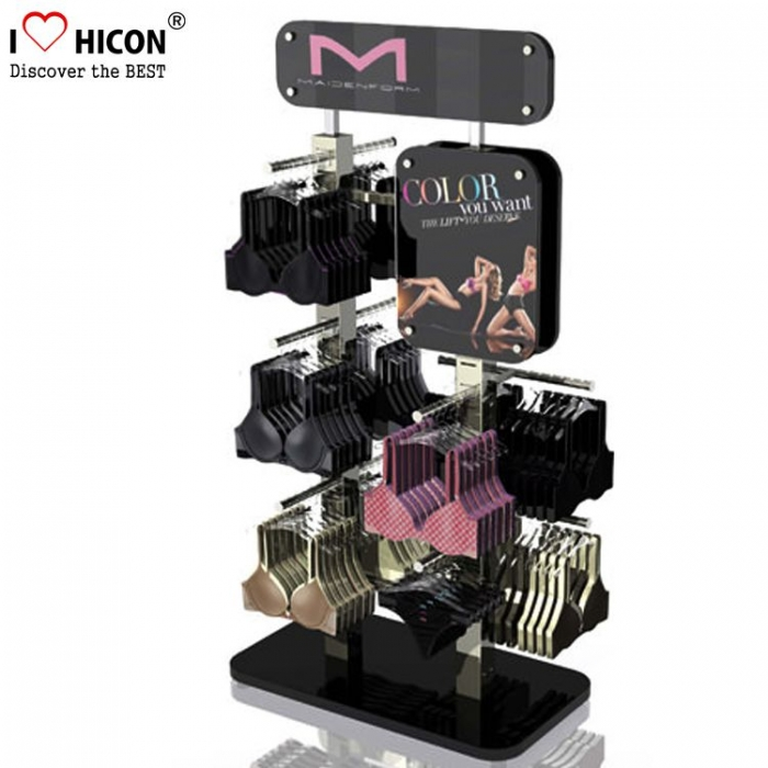 Black Acrylic Sports Best Cotton Dame Undertøy Merker Display Stand