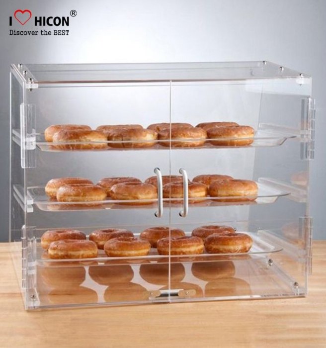 Free Design Food Shop Zähler Top Clear Acryl Brot Display Einzelhandel Bäckerei Kuchen Vitrine