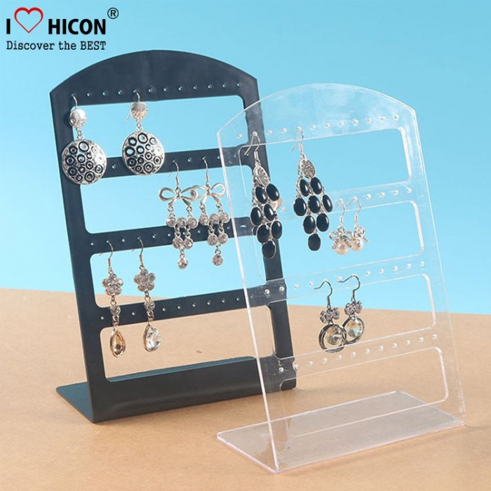Clear Perspex Plexiglass Acrylic Bracelet Necklace Jewellery Jewelry Display Stand For Neck And Earring