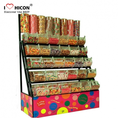 candy plexiglass display floor creative stand