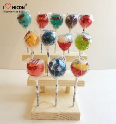 wooden lollipop display stand