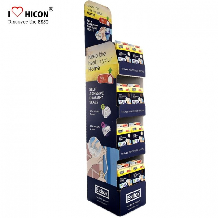 Safe Advertising Blue Customized Bulk Cardboard Boards Display Units