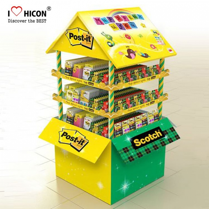 Attractive Yellow Cardboard Appliances Art Food Display Stands
