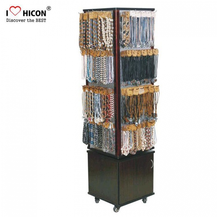 Popular Movable Floor Wood Bracelet Display Stand for Sale