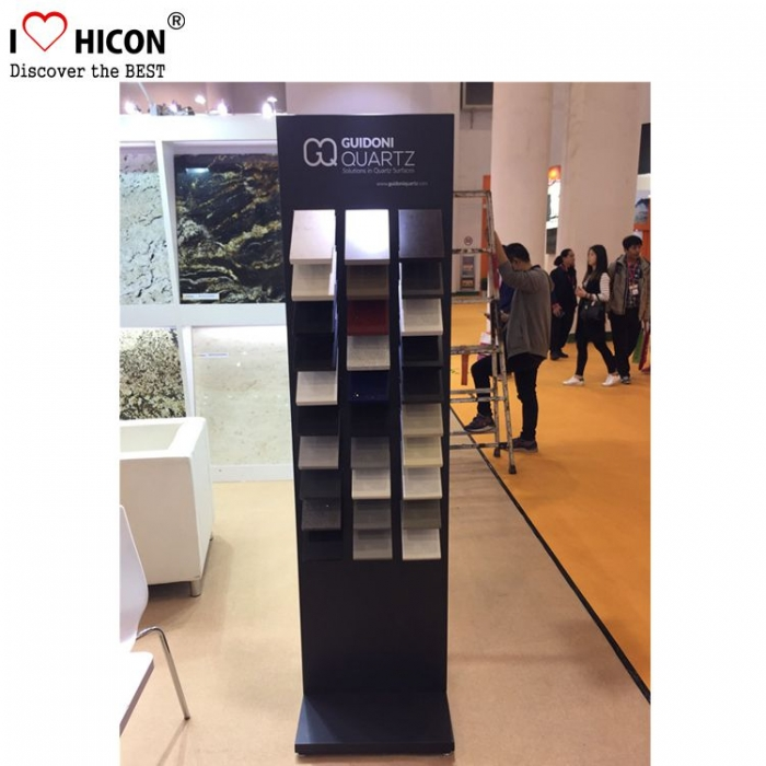 Good-looking Movable Floor Silver Ceramic Tiles Display Stand Price