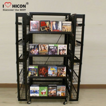 Metal Wire Book Display Rack