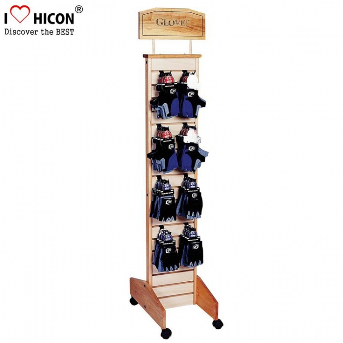 Popular Customized White Metal Floor Retail Glove Display Stand