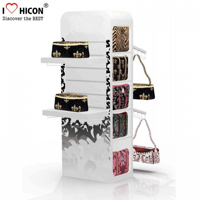 grand sac de marchandise en métal rouge shopping shopping display stand store
