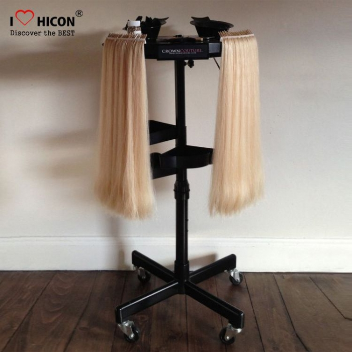 Popular Movable Black Metal Hair Extension Display Stand Suppliers