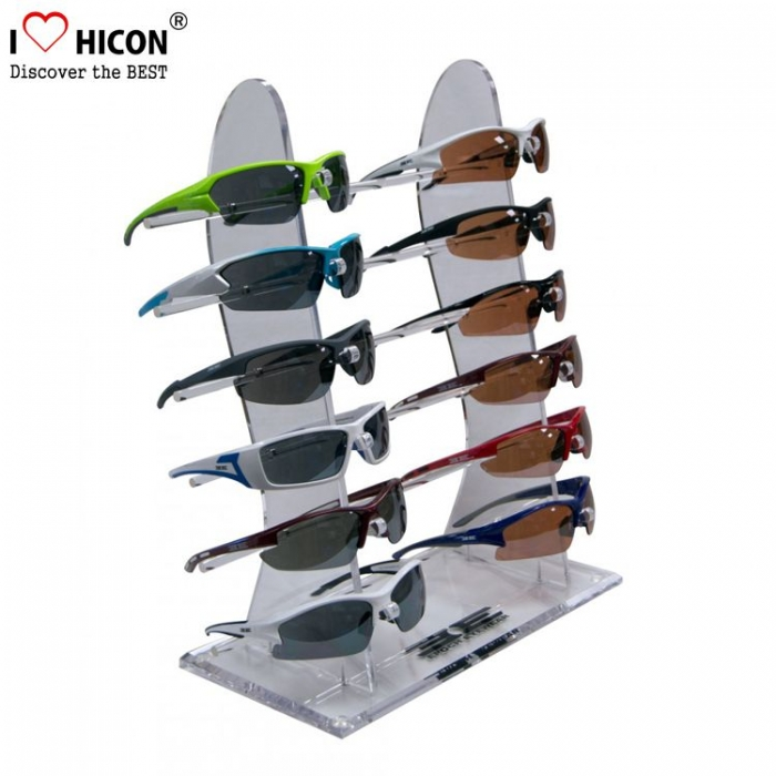 Red Wood Sunglasses Display Ideas Holder Price with Backlight