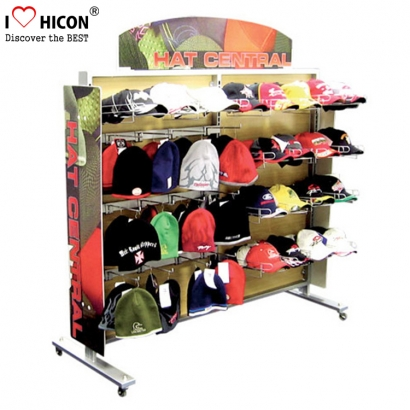 rak display topi topi