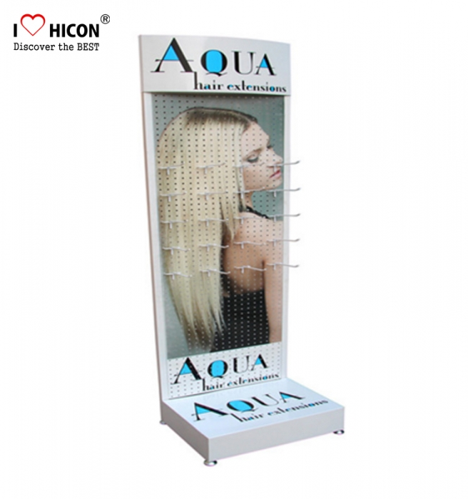 Visual Hair Product Shop Custom Metal Wig Hair Extension Display Rack Stand