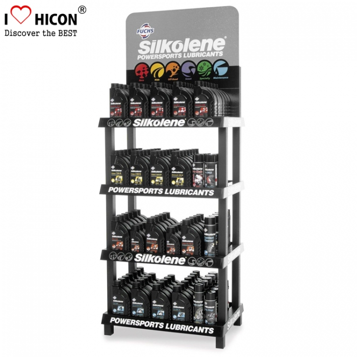 Create More Value Floor Lubricating Motor Oil Display Shelf