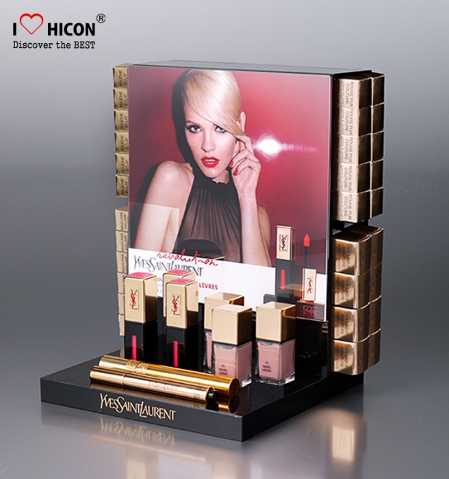 Get Attention Custom Logo Acrylic Makeup Cosmetic Display Stand Low MOQ