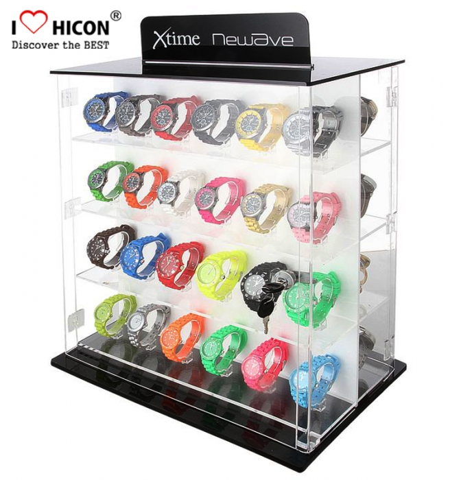 Counter Top Acrylic Advertising Custom Watch Bracelet Display Case