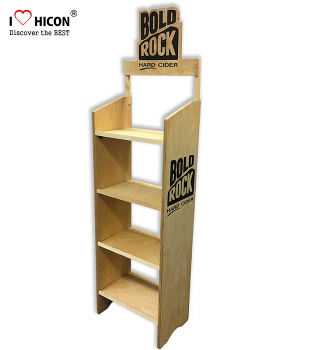 Help You Sell In Retail Store Wooden POP Bakery Display Stands