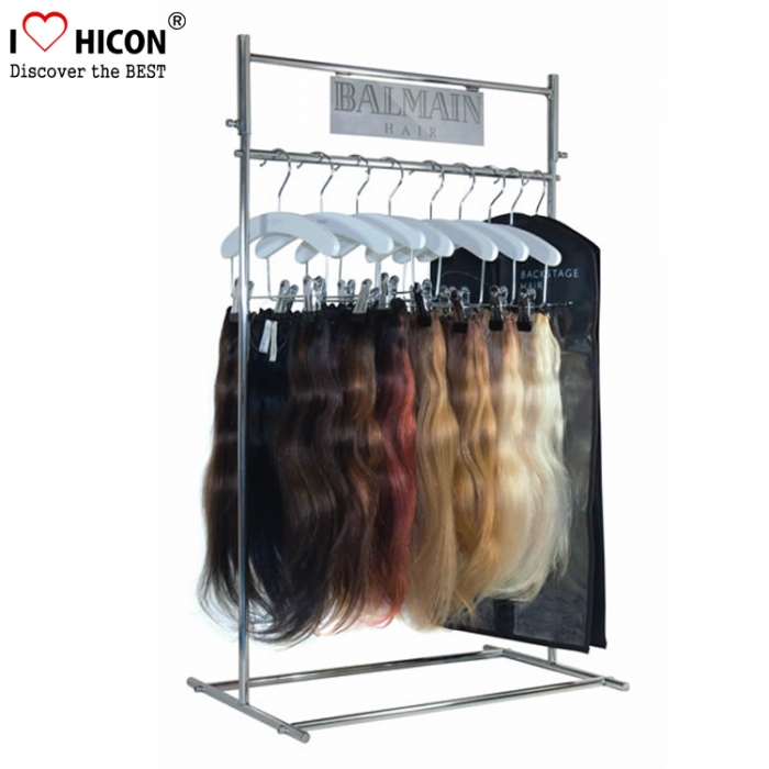 Get Attention Countertop Metal Hair Extensions Display Stand In Stores
