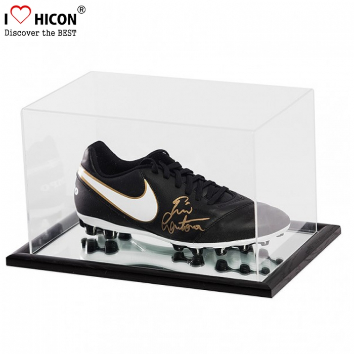 Functional Custom Clear Acrylic Football Sneaker Shoes Display Case