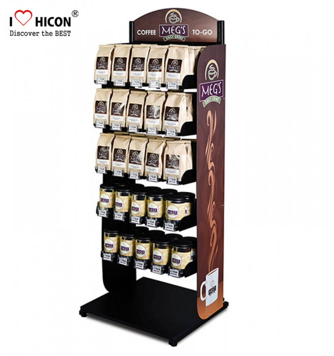 Inspire Sell Coffee Shop Floorstanding Coffee Bag Display Stand