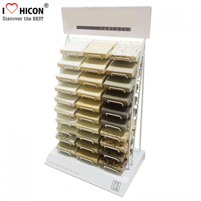 Metal Granite Sample Display Tower Advertising Floor Tiles Display Racks