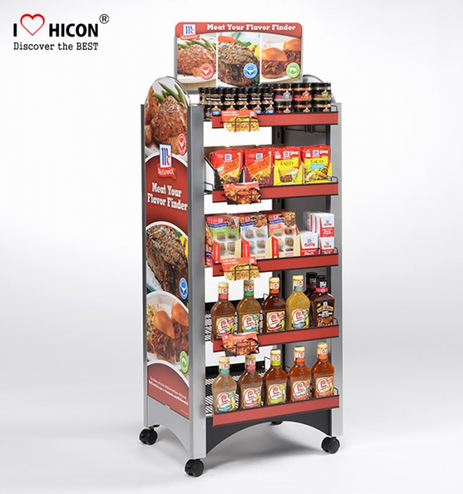 Brand Food Retail Shop Freestanding Mobile Chocolate Candy Display