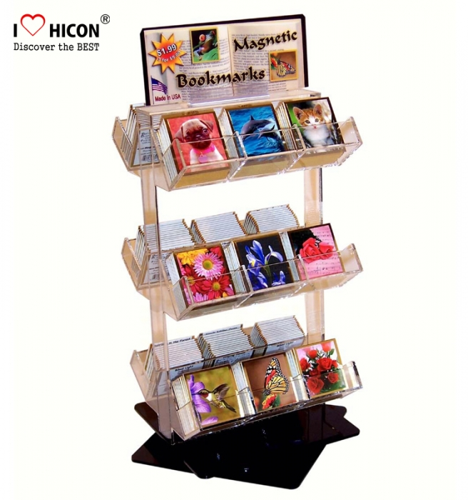 Literature Retail Store Countertop Kids Book Card Display Acrylic Stand