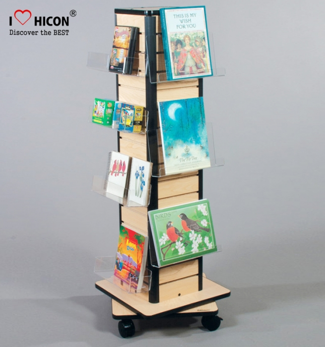 Reflect Your Brand Retail Floor Card Pamphlet Display Stand Rotating
