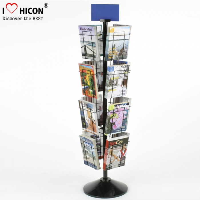 A4 Portable Magazine Brochure Holder Floor Stand Magazine Brochure Display