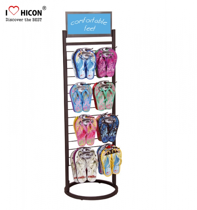 Inspiring Flip Flops Point Of Purchase Floor Display Rack With Pegs