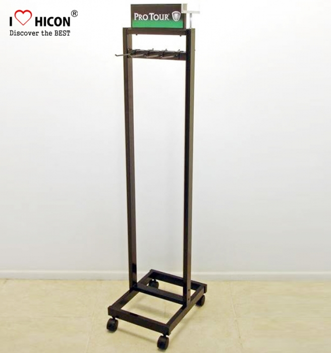 Save Your Time Promotional Floor Stand Metal Men Leather Belt Display