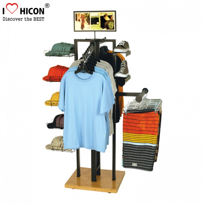 Floor Display Rack For Caps, Sports Gear Shoes Display Rack For Shops