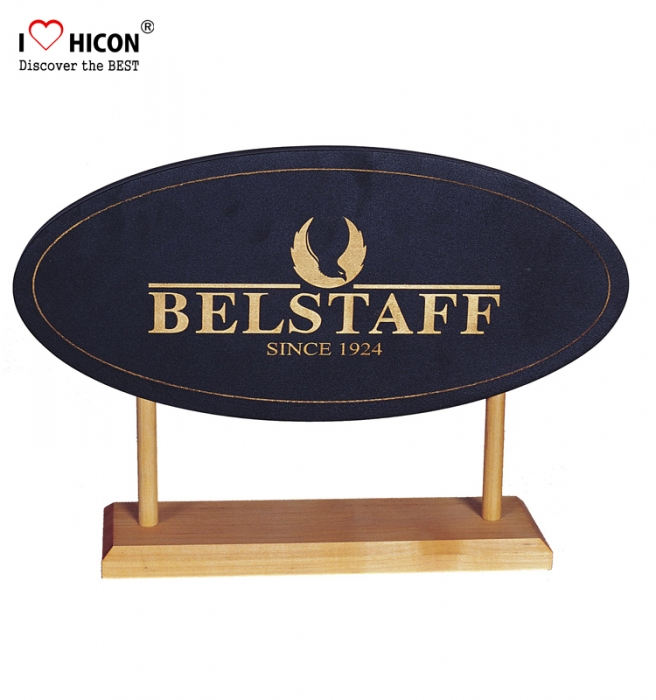 Clothing Advertising Custom Signage Tabletop Display Wooden Sign Holder