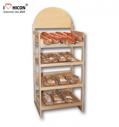 Wooden Bread Display Racks
