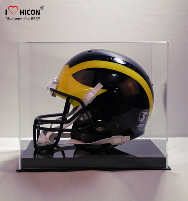 Counter Top Acrylic Metal Single Motorcycle Or Football Helmet Display Case